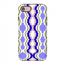 iPhone 7 StrongFit Travels by Bettie * Blue (exotic,Indian,moroccan,geometric,abstract,pattern,bright colors,fun)