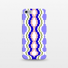 iPhone 5/5E/5s  Travels by Bettie * Blue (exotic,Indian,moroccan,geometric,abstract,pattern,bright colors,fun)