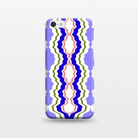 iPhone 5C  Travels by Bettie * Blue (exotic,Indian,moroccan,geometric,abstract,pattern,bright colors,fun)