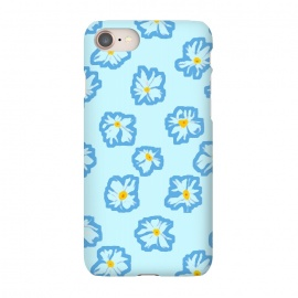 iPhone 7 SlimFit Happy Daysies by Bettie * Blue (daisies, daisy,flower,floral,blue,blue floral,flower pattern)