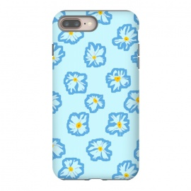 Happy Daysies by Bettie * Blue (daisies, daisy,flower,floral,blue,blue floral,flower pattern)
