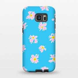 Galaxy S7 EDGE  Pink Snow & Sky by Bettie * Blue