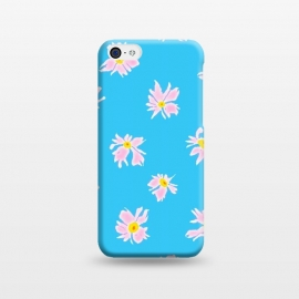 iPhone 5C  Pink Snow & Sky by Bettie * Blue