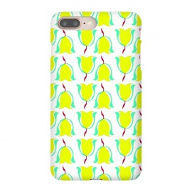 Tulips de Chartreuse by Bettie * Blue (tulips,flowers,floral,spring,yellow,pattern,modern,contemporary)