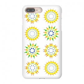 Springtime  by Bettie * Blue (spring, mandala,geometric,colorful,yellow,flowers,pattern,happy,joy,fun)
