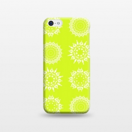 iPhone 5C  Oh Chartreuse! by Bettie * Blue (mandala,chartreuse,green,spring,flowers,geometric,floral,happy)