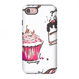 iPhone 8/7  Cake Love by MUKTA LATA BARUA (cake,pastry,drawing,vector,graphic,sweets)