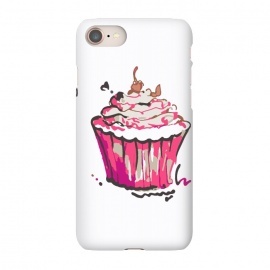 iPhone 7 SlimFit Cup Cake by MUKTA LATA BARUA (cup cake,cake,pastry,food,sweet,dessert,summer,pink)