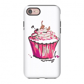 iPhone 8/7  Cup Cake by MUKTA LATA BARUA (cup cake,cake,pastry,food,sweet,dessert,summer,pink)