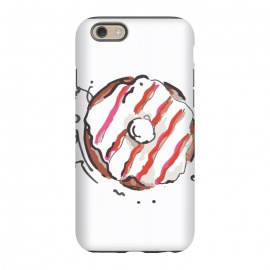 iPhone 6/6s StrongFit Donut Love 2 by MUKTA LATA BARUA (donuts,sweet,dessert,summer,food,graphic,illustration,art)