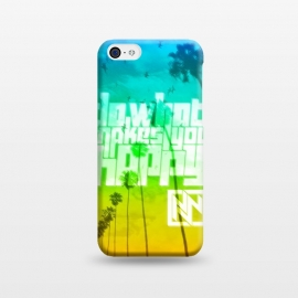 iPhone 5C  Do What Makes You Happy by Nicholas Wolf (Beach,Ocean,Hipster,Nicholas Wolf,Happy)