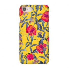 iPhone 7 SlimFit Come Into Blossom by Uma Prabhakar Gokhale (watercolor, floral, nature, flowers, botanical, bloom, blossom)