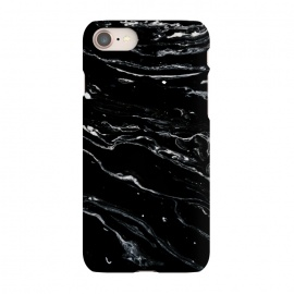 iPhone 7 SlimFit Black Marble Space by Uma Prabhakar Gokhale (graphic, abstract, marble, exotic, black and white, texture)