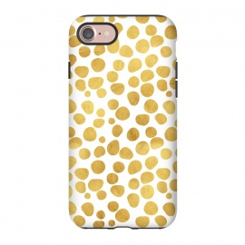 iPhone 8/7  Gold Spots by Uma Prabhakar Gokhale (graphic, acrylic, other, pattern, abstract, gold, golden, polka dots, dotted pattern, metallic, exotic, shine)