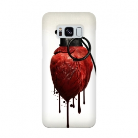 Galaxy S8  Heart Grenade by Nicklas Gustafsson (heart,grenade,love,war,peace,hate,blood,drips,symbolic)