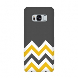 Color Blocked Chevron Mustard Gray by Josie Steinfort