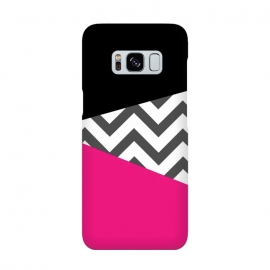 Color Blocked Chevron Black Pink  by Josie Steinfort  ()