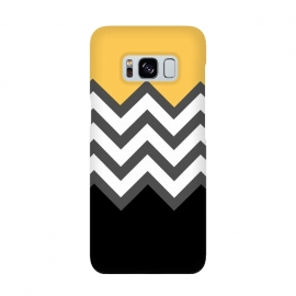 Color Blocked Chevron Black Yellow by Josie Steinfort  ()