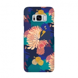 Galaxy S8  Chrysathumum Blue by Zoe Charlotte