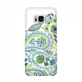 Watercolour Paisley by Laura Grant (Paisley,Painted,watercolour,pretty)