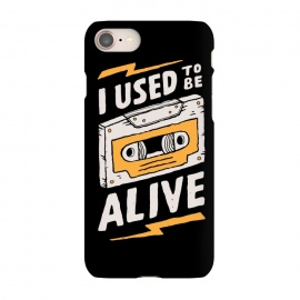 iPhone 8/7 SlimFit Alive by Tatak Waskitho (funny,90s,cassette)