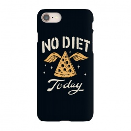 iPhone 8/7 SlimFit No Diet Today by Tatak Waskitho (pizza,funny)