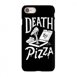 iPhone 8/7 SlimFit Death By Pizza by Tatak Waskitho (pizza,funny)
