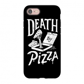 iPhone 8/7 StrongFit Death By Pizza by Tatak Waskitho (pizza,funny)