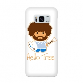 hello tree by Manos Papatheodorou (art, bob ross, hello tree, hello kitty, funny,parody,happy little trees)