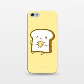 iPhone 5/5E/5s  Bread & Butter by Xylo Riescent (Robo Rat,food with faces,funny,hug,bread,butter,love,embrace,yellow,kids,cool,awesome)