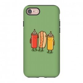 iPhone 8/7  Best Friends by Xylo Riescent (Robo Rat,condiments,hotdog,sandwich,mustard,friends,funny,catsup,cool,awesome,green)