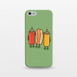 iPhone 5/5E/5s  Best Friends by Xylo Riescent (Robo Rat,condiments,hotdog,sandwich,mustard,friends,funny,catsup,cool,awesome,green)