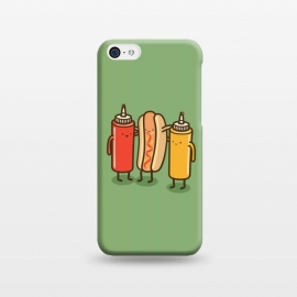 iPhone 5C  Best Friends by Xylo Riescent (Robo Rat,condiments,hotdog,sandwich,mustard,friends,funny,catsup,cool,awesome,green)