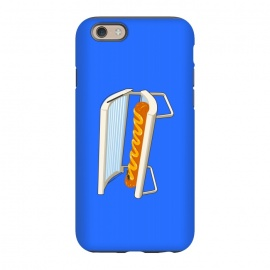 iPhone 6/6s StrongFit Hotdog by Xylo Riescent (Robo rat,hotdog,tanning bed,funny,blue,kids,food with faces)