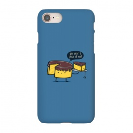 iPhone 7 SlimFit Do you want a piece of me? by Xylo Riescent (Robo rat,cake,funny,kids,blue,food with faces)