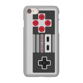 iPhone 8/7  Retro Gamer by Dellán (vintage,retro,game,video game,geek,hipster,classic,nerd,gamer,8 bit,80´s,90´s,black and white,electronic)