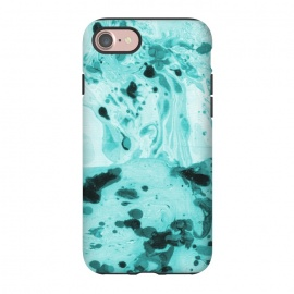 iPhone 8/7  Turquoise Marble by Laura Grant (marble ,pattern,turquoise)