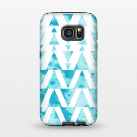 Galaxy S7  Marble triangles 2 by Laura Grant
