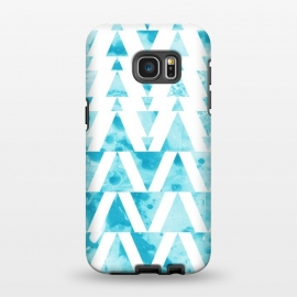 Galaxy S7 EDGE  Marble triangles 2 by Laura Grant