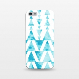 iPhone 5/5E/5s  Marble triangles 2 by  (marble,triangle,geometric,blue)
