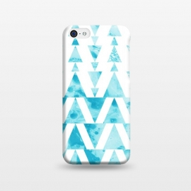 iPhone 5C  Marble triangles 2 by Laura Grant