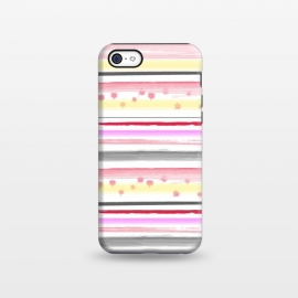 iPhone 5C  Watercolor Stripes by MUKTA LATA BARUA