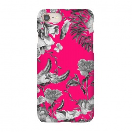 iPhone 7 SlimFit Spring Blooms pink by MUKTA LATA BARUA (flower,florals,pink,print,pattern,graphic,design,patterns,digital,painting)