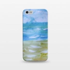 iPhone 5/5E/5s  Miami Beach Watercolor #1 by  (beach,ocean,miami beach,sea,travel,tropics,tropical,environment,seaside,sand,sky,clouds)