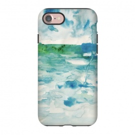 iPhone 8/7  Miami Beach Watercolor #6 by ANoelleJay (blue,clouds,rain,sky,ocean,beach,miami beach,miami,vacation,travel)