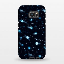 Galaxy S7 EDGE  marble night sky by Laura Grant