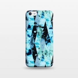 iPhone 5C  Marble diamonds by Laura Grant (marble,blue,geometric,diamond)
