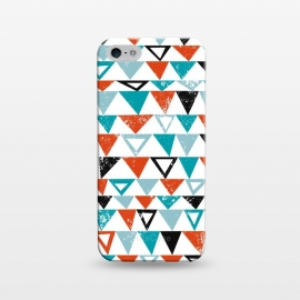 iPhone 5/5E/5s  Buddy by Kimrhi Studios (triangle, modern,texture,geo, turqoise,teal)