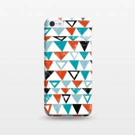 iPhone 5C  Buddy by Kimrhi Studios (triangle, modern,texture,geo, turqoise,teal)