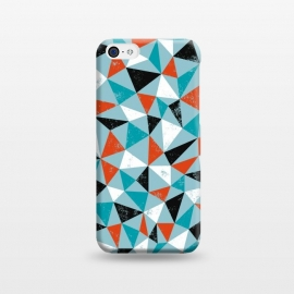 iPhone 5C  Dude by Kimrhi Studios (triangle,geo,teal,turqoise,modern)